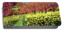 Fields Of Golden Daffodils Portable Battery Charger