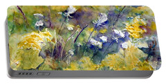 Fields Of White And Gold Portable Battery Charger