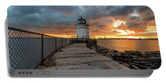 Fiery Skies At Bug Light Portable Battery Charger