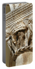 Figures On Capitals Of The Rector's Palace Portable Battery Charger
