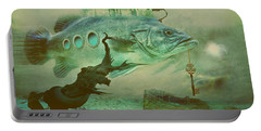 Portable Battery Charger featuring the digital art Finding Captain Nemo by Alexa Szlavics