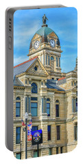 Portable Battery Charger featuring the photograph Findlay Ohio Courthouse by Dan Sproul