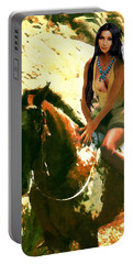 Fine Art Digital Portrait Cher Half Breed B Detail3 Portable Battery Charger