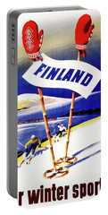 Finland For Winter Sports Portable Battery Charger