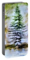 Fir Tree In Winter  Portable Battery Charger