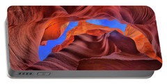 Fire Beneath The Sky In Antelope Canyon Portable Battery Charger