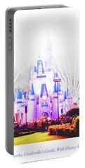 Fireworks, Cinderella's Castle, Magic Kingdom, Walt Disney World Portable Battery Charger