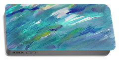Portable Battery Charger featuring the painting Fish In Water by Dobrotsvet Art