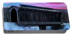 Fisher Raiilroad Covered Bridge Wolcott Vermont. Portable Battery Charger