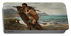 Fisherman And Mermaid, 1889 Portable Battery Charger