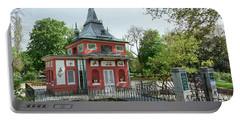 Fisherman Little House - Retiro Park, Madrid, Spain Portable Battery Charger
