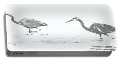 Fishing Blue Herons Portable Battery Charger