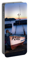 Fishing Boat In Mullion Cove Portable Battery Charger