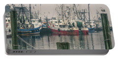Portable Battery Charger featuring the photograph Fishing Boats by Steve Stanger