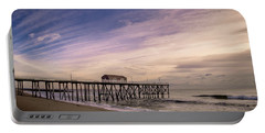 Portable Battery Charger featuring the photograph Fishing Pier Sunrise by Steve Stanger