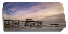 Fishing Pier Sunrise Portable Battery Charger
