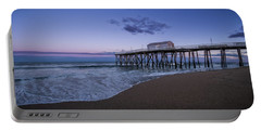 Portable Battery Charger featuring the photograph Fishing Pier Sunset by Steve Stanger