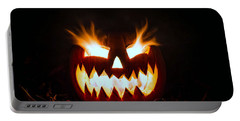 Flaming Pumpkin Portable Battery Charger