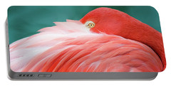 Flamingo At Rest Portable Battery Charger