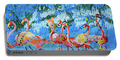 Flamingo Pat Party Portable Battery Charger