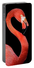 Flamingo Portrait Portable Battery Charger