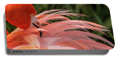 Flamingo Preening Portable Battery Charger