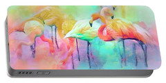 Flamingo Rainbow Portable Battery Charger