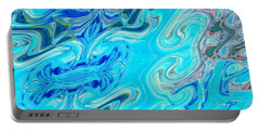 Portable Battery Charger featuring the digital art Fleurs Dans Les Vagues by A zakaria Mami