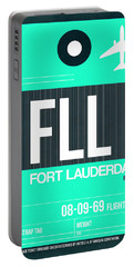 Fll Fort Lauderdale Luggage Tag II Portable Battery Charger