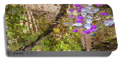 Floating Magnolia Petals Portable Battery Charger