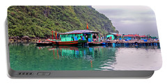 Floating Market In Halong Bay, Vietnam Portable Battery Charger