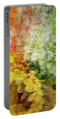 Portable Battery Charger featuring the digital art Flora Abstracta by Edmund Nagele