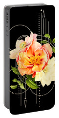 Floral Abstraction Portable Battery Charger