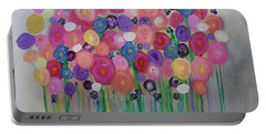 Floral Balloon Bouquet Portable Battery Charger