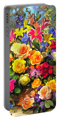 Floral Bouquet In Acrylic Portable Battery Charger