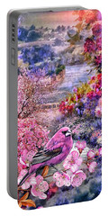 Floral Embedded Portable Battery Charger