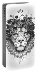 Floral Lion Portable Battery Charger