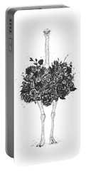 Floral Ostrich Portable Battery Charger
