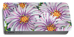 Floral Whimsy 1 Portable Battery Charger