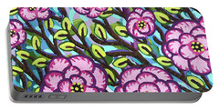 Floral Whimsy 3 Portable Battery Charger