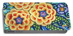 Floral Whimsy 9 Portable Battery Charger