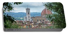 Florence And The Cathedral From The Boboli Gardens Portable Battery Charger
