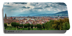 Florentine Cityscape From The Boboli Gardens Portable Battery Charger
