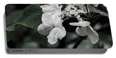 Flower And Rain Drops  8645 Portable Battery Charger