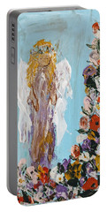 Flower Child Angel Portable Battery Charger
