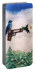 Flower In A Gun- Bluebird Of Happiness Portable Battery Charger