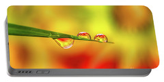 Flower In Water Droplet Portable Battery Charger