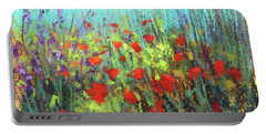 Flower Party Portable Battery Charger