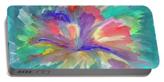 Portable Battery Charger featuring the painting Flowering Abstract 1 by Dobrotsvet Art