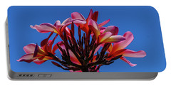 Flowers In Clear Blue Sky Portable Battery Charger